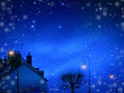 星降る夜の家