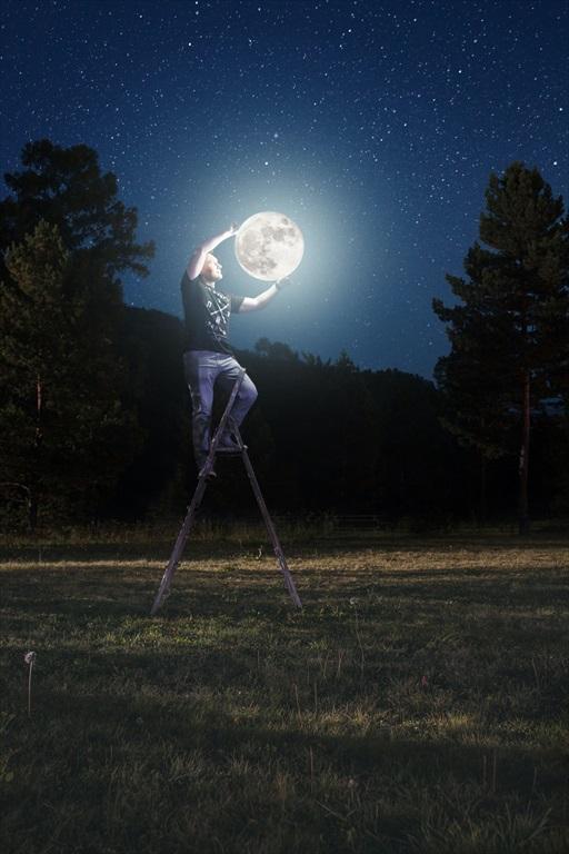 お月見くださ~い!