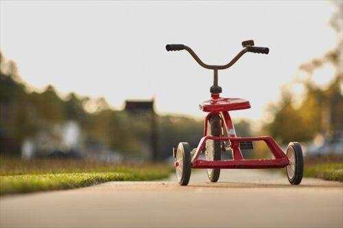 子どものころの三輪車