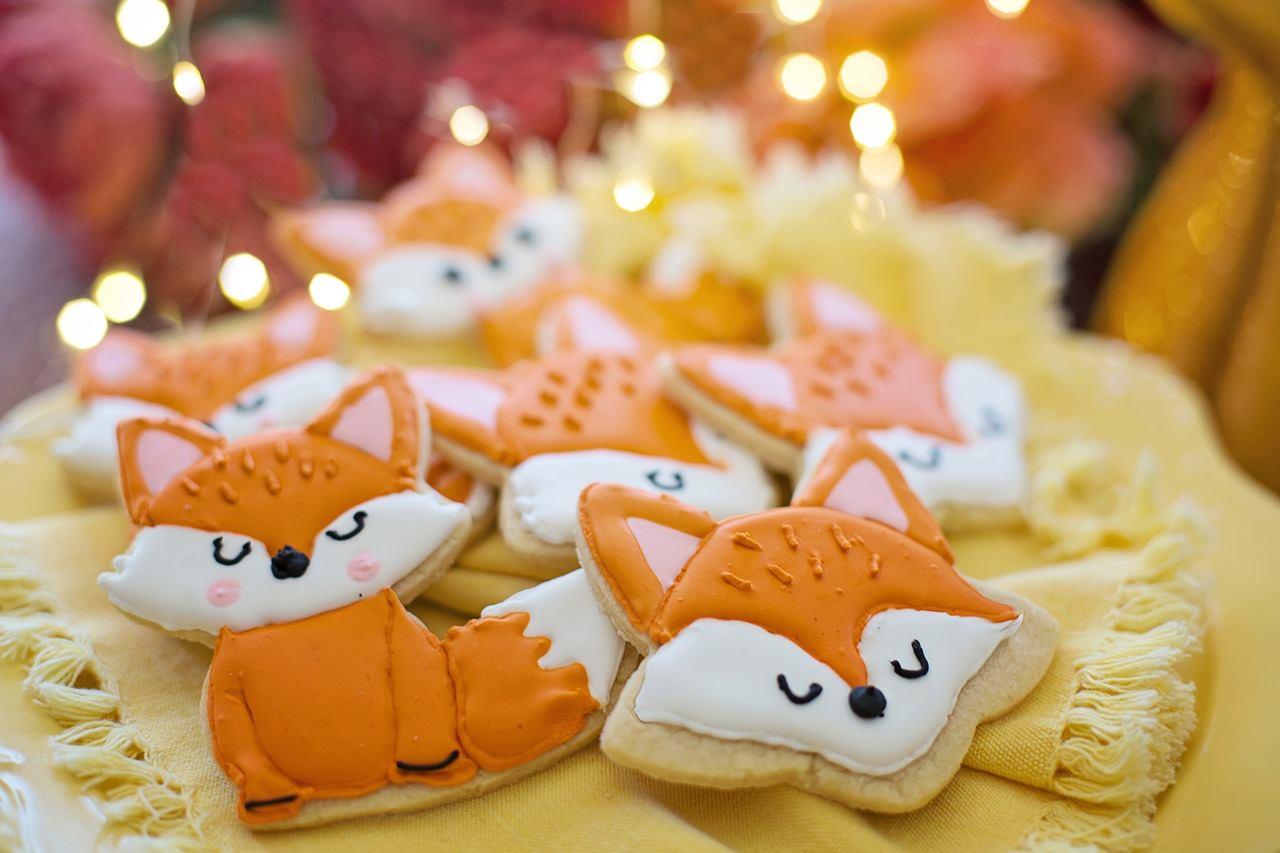 狐を象ったクッキー