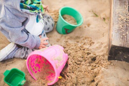 保育園のお砂場あそび